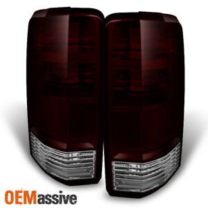 Fit 07 11 Dodge Nitro Dark Clear Tail Lights Driver Passenger Side Replacement