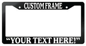 Glossy Black License Plate Frame Custom Saying Auto Personalize Your Saying