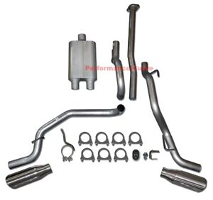 05 12 Toyota Tacoma Catback Dual Exhaust Side Exit Full Boar Two Chamber
