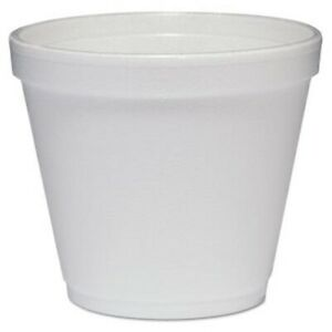 Dart Food Containers Foam 8 oz White 1 000 Containers dcc8sj12