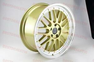 19x8 5 Lm Style Gold With Machined Lip Fits Bmw 3 Series Xdrive E90 E92 E93