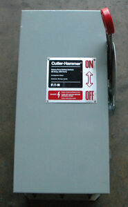 Eaton Cutler hammer Heavy Duty Safety Switch 60a 250v