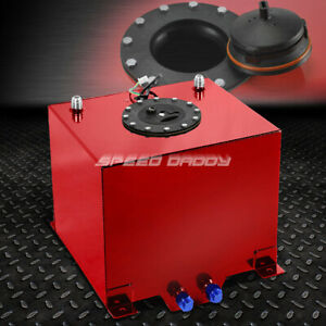 5 Gallon Red Coated Aluminum Racing drifting Fuel Cell Gas Tank level Sender