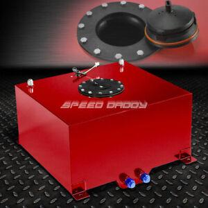 10 Gallon Red Coated Aluminum Racing Drifting Fuel Cell Gas Tank Level Sender