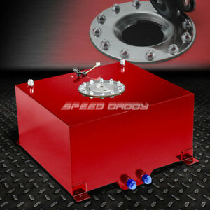 10 Gallon 38l Red Coat Aluminum Racing drift Fuel Cell Tank cap level Sender