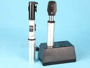 Optical Rechargeable Ophthalmoscope Retinoscope Combination Set