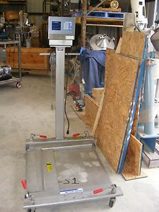 Used Mettler Stainless Steel Portable Floor Scale From Pharmaceutical Plant