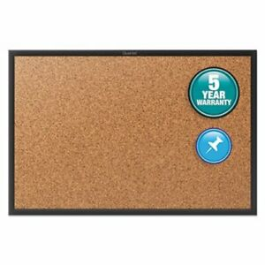 Quartet Cork Bulletin Board With Black Aluminum Frame 36 X 24 qrt2303b
