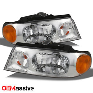 Fits 98 02 Lincoln Navigator Replacement Clear Headlights Headlamps Left Right