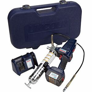 Lincoln Li ion Powerluber Grease Gun Kit 18 Volt 7 500 Psi 1862