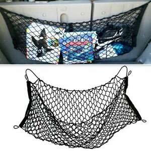 Zone Tech Car Trunk Rear Cargo Organizer Storage Nylon Elastic Mesh Net 2 Hooks