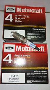 Brand New Set Of 8 Motorcraft Spark Plug Sp432 Agsf32fm