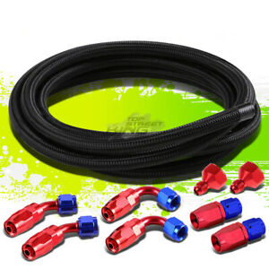 Hose End Male Female Swivel Fitting Adaptor 12 Nylon Braided Oil Fuel Line Kit