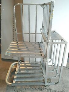 Aluminum Warehouse Industrial Cart Store Factory 61 High Removeable Shelf