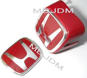 Oem Red H Emblem Front Rear 02 04 Honda Integra Type R Rsx Dc5 Genuine Honda