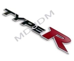 Genuine Fd2 Type R Rear Emblem Honda Civic Rear Jdm Fd2 Fd1 Si Csx Genuine Oem