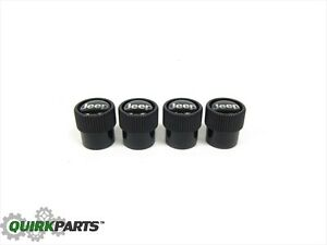 99 19 Jeep Tire Wheel Valve Stem Cover Cap Set Of 4 Oem New Mopar Part 82214622