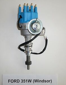 Small Block Ford 351w Windsor Blue Small Hei Distributor Ready To Run Electronic