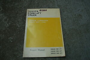 Toyota Forklift Lift Truck Power Shift Torque Converter Service Manual Repair