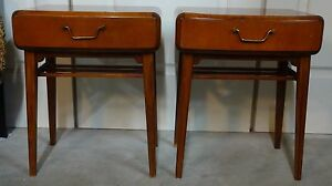 Axel Larsson Bodafors Mahogany Mid Century Modern Art Deco Side Table Nightstand