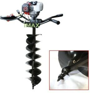 3 2hp Two Man 71cc Gas Post Earth Hole Auger Digger Driller 10 Double Blade Bit