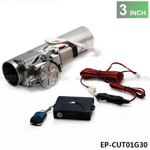 3 0 Electric I Pipe Exhaust Downpipe Cutout E Cut Out Valve System Kit Remonte