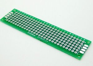 100pcs Double Side Prototype Pcb Bread Board Tinned Universal 2x8 20mmx80mm Fr4