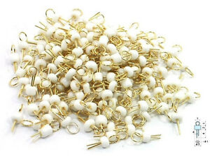 20pcs White Gold Tone Soldering Pcb Board Breadboard Test Point Pin New