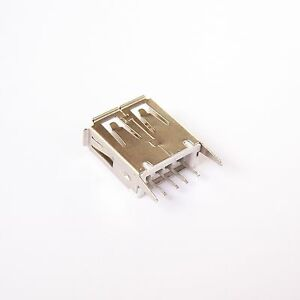 20 Pcs Usb Connector Type A 4 Pin Receptacle Female Vertical Mount Socket