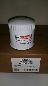 Motorcraft Fl 820s Oil Filters Case Of 12 Bulk Pack