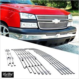 304 Stainless Billet Grille Combo Fits 06 Chevy Silverado 1500 05 06 2500hd