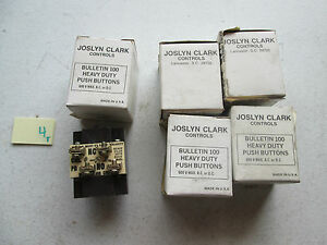 Lot Of 5 New In Box Joslyn Clark Push Button Pb 2 No 2 Nc Panel Mounted 130