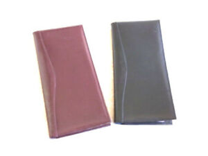 New Leather Business Card Case Folder Burgunday Office Products Holder Planner