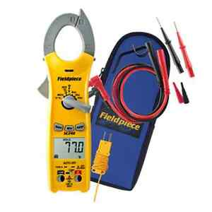 New Fieldpiece Sc240 Compact Clamp Multimeter With Temperature Replaces Sc45