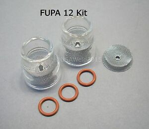 Tig Welding Weld Fupa 12 Pyrex Cup Kit 9 20 Torches Gas Lens 3 32