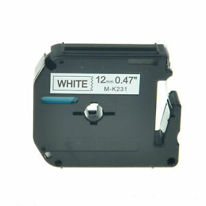 Compatible For Brother P touch Tape Label M Mk M k231 Mk 231 Black white 12mmx8m