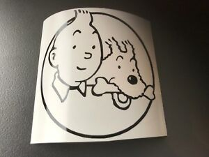 Decal Sticker Tintin Auto Tuning Motorbike Scooter Helmet Bicycle