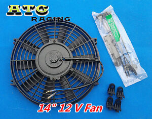 14 Push pull Slim Electric Radiator Engine Bay Cooling Fan 14 Inch Universal