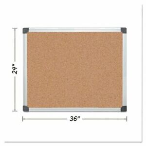 Mastervision Value Cork Bulletin Board 24 X 36 Aluminum Frame bvcca031170