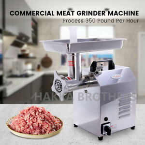 Hakka Commercial Electric Meat Grinder 350lbs h 550w Stainless Steel Meat Mincer