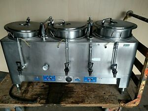 Commercial Coffee Brewer Maker 3 Urn American Metal 7303e