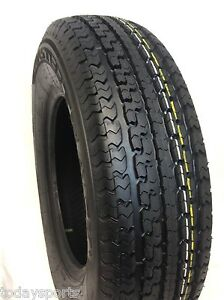 Set Of Four St205 75r15 Trailer Tires 2057515 8 Ply Rated 205 75r15