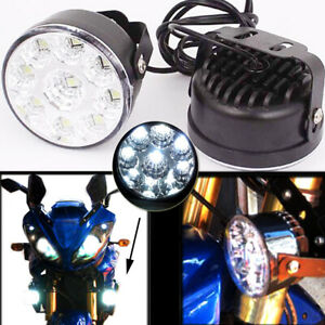 2pcs 2 8 Inch 9 Led Round Daytime Driving Running Light Drl Car Fog Lamp 12v