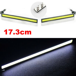Extreme Bright White Cob Led Daytime Running Lights Lamps Drl Waterproof 12v