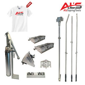 Platinum Finishing Set Of Automatic Drywall Taping Tools W 3 Angle Head