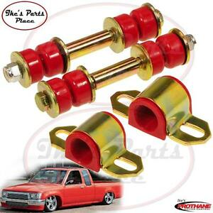 Prothane 18 1107 Front 23mm Sway Bar Bushings end Link Kit Toyota 2wd Pickup