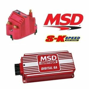 Msd 9955 Ignition Kit 6201 Digital 6a Ignition Box 8207 Blaster Ss Coil
