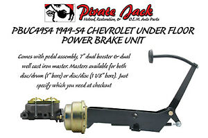 1949 1954 Chevy Car Frame Mount Brake Pedal Assembly With Power Booster Master