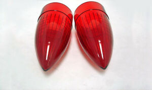 1959 Cadillac Red Tail Light Tail Lamp Lens Lenses Pair 59