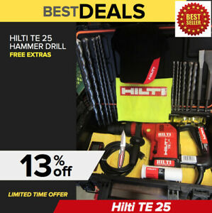 Hilti Te 25 Drill Free Drill Bits Chisels Durable Measuring Laser fast Ship